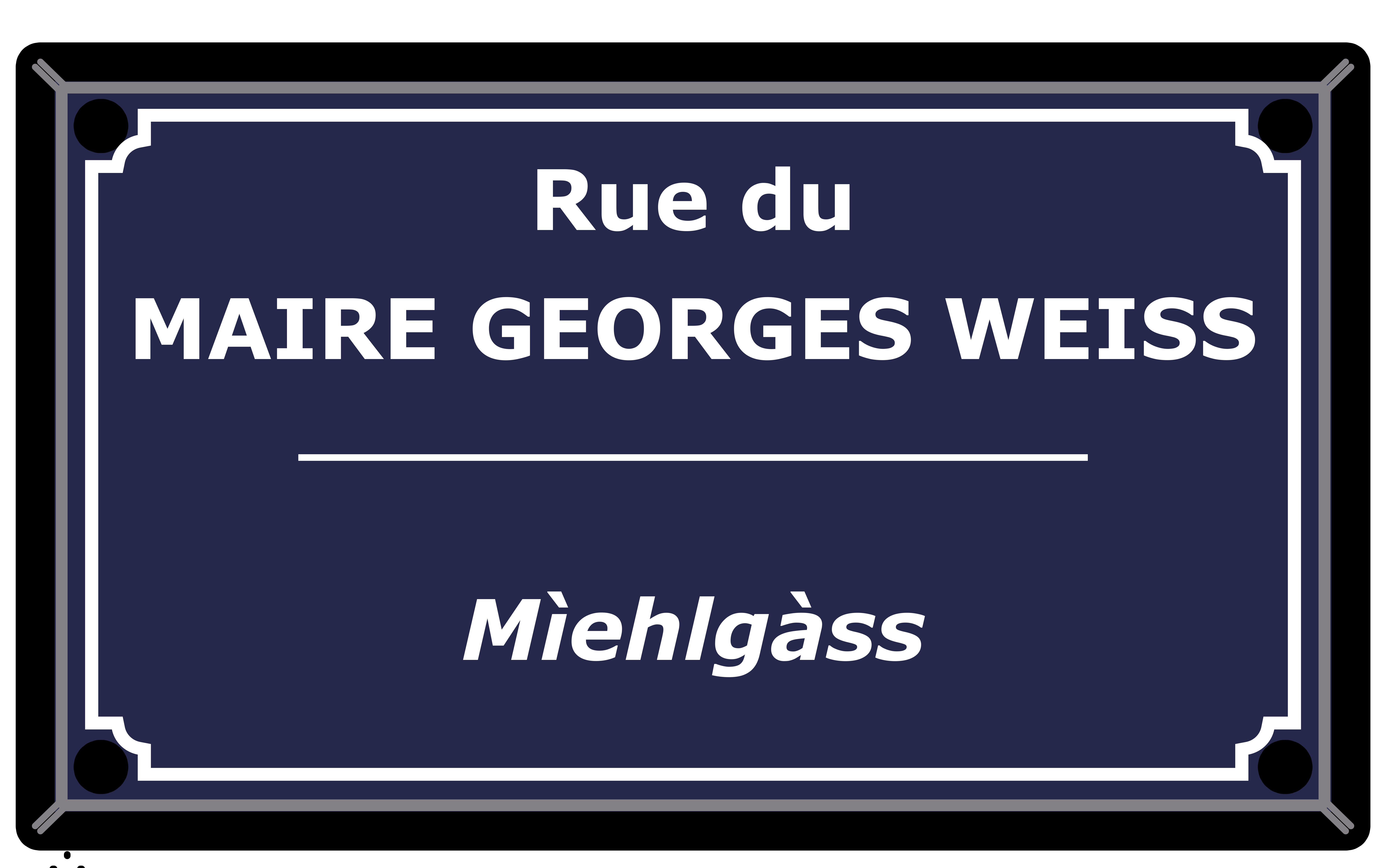 Rue Maire Georges Weiss
